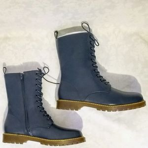 Charming Lady  Classic Navy Blue Marten-Style 10